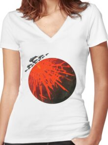 Exterminatus Plain Women's Fitted V-Neck T-Shirt