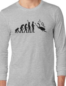 Evolution Of Scuba Diving Black Funny Long Sleeve T-Shirt