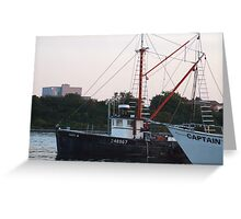 Galiee, rhode island fishing boats Greeting Card
