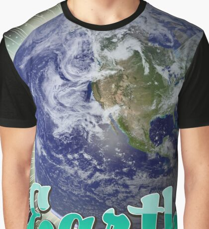 Earth By Air Vintage flight poster  Graphic T-Shirt