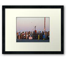 Galiee, rhode island dock Framed Print