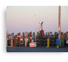 Galiee, rhode island dock Canvas Print
