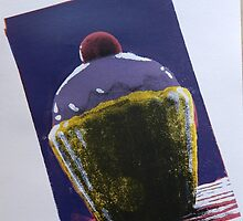 Dramatic Cupcake Screen Print by FloraMoura