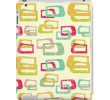 retro colorful abstract pattern iPad Case/Skin