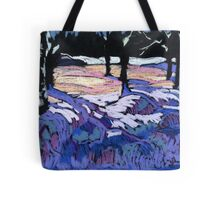 Snowbanks in evening light Tote Bag