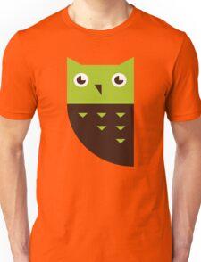 Green Brown Owl Unisex T-Shirt