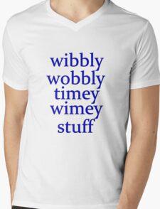 wibbly wobbly timey wimey stuff Mens V-Neck T-Shirt