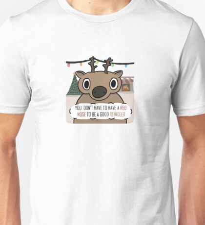 Dull-Nosed Reindeer Unisex T-Shirt