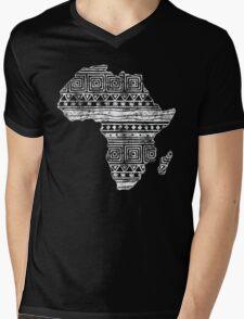 Patterned Map of Africa  Mens V-Neck T-Shirt