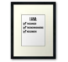 I Am: Breaking Bad Framed Print