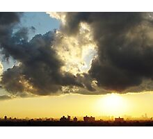 Sunset clouds over New York City  Photographic Print