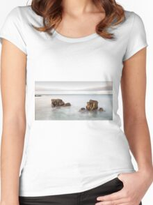 Face in the Rock Women's Fitted Scoop T-Shirt
