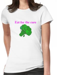 Eat for the cure Womens Fitted T-Shirt