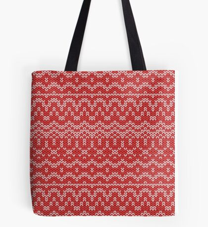 christmas seamless knitting pattern Tote Bag