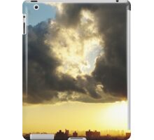 Sunset clouds over New York City  iPad Case/Skin