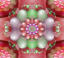Textured Balloon Centerpiece  (G0833) by barrowda