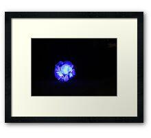 Blue light streaks ball Framed Print
