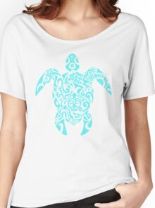 Turquoise Tribal Turtle Women's Relaxed Fit T-Shirt
