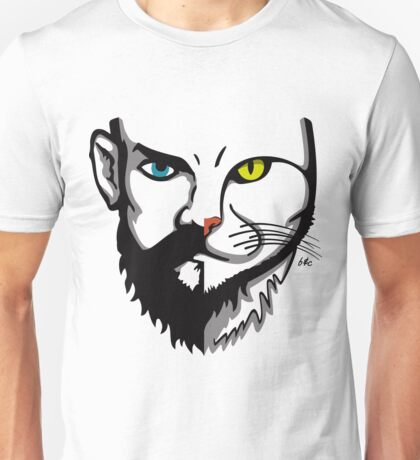 Beards and Cats || Merged faces Unisex T-Shirt