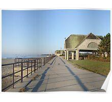 scarborough beach sunrise boardwalk Poster