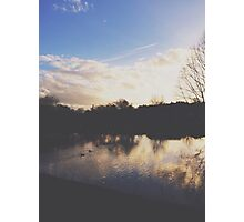 A London Park Lake Photographic Print