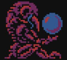 Metroid Chozo - Pink on Black by DukeJaywalker