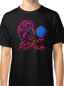 Metroid Chozo - Pink on Black Classic T-Shirt