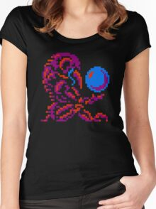 Metroid Chozo - Pink on Black Women's Fitted Scoop T-Shirt
