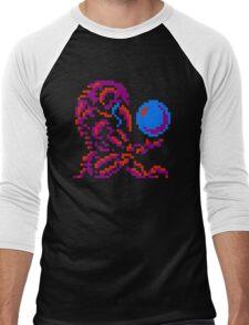 Metroid Chozo - Pink on Black Men's Baseball ¾ T-Shirt