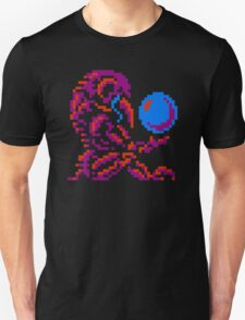 Metroid Chozo - Pink on Black Unisex T-Shirt
