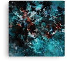 Teal Abstract And Modern Painting Canvas Print