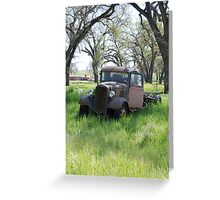An old truck, abandoned in a field. Greeting Card