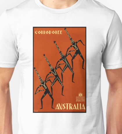 AUSTRALIA CORROBOREE; Vintage Travel Advertising Print Unisex T-Shirt