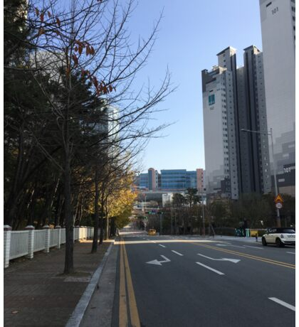 Haeundae, Busan, South Korea, on a clear day in winter Sticker