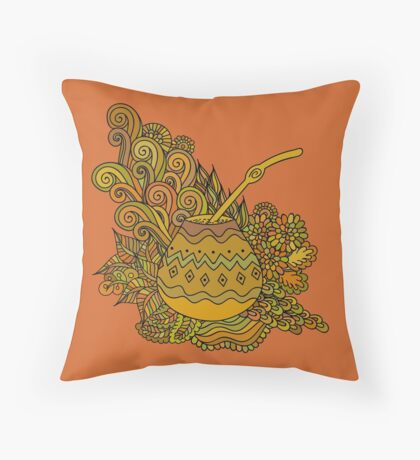 Yerba Mate Throw Pillow