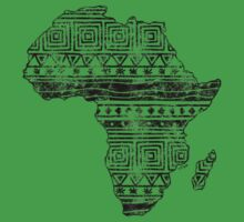 Patterned Map of Africa  T-Shirt