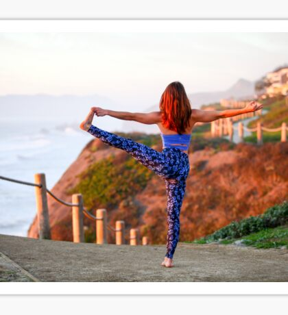 Female Yoga instructor outdoors. Photographed in California, USA Sticker