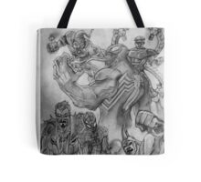 Spider-Man surrounded  Tote Bag