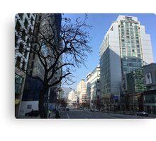 Haeundae, Busan, South Korea, on a clear day in winter 3 Canvas Print