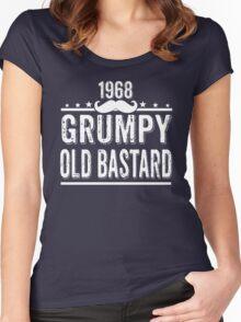 GRUMPY OLD BASTARD 1968 Women's Fitted Scoop T-Shirt