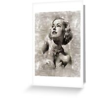 Eleanor Parker, Actress Greeting Card