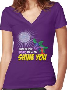 Show me your BLING Women's Fitted V-Neck T-Shirt