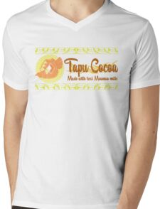 Tapu Cocoa - Distressed Logo 2 Mens V-Neck T-Shirt