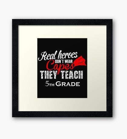 5th grade teacher gifts coffee mugs tshirts Framed Print