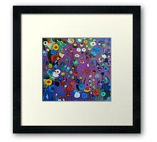 Bloom field - Purple Framed Print