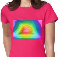 Radiant rainbow colors agate slice mineral Womens Fitted T-Shirt