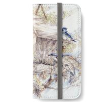 Huddled Around the Feeder  iPhone Wallet/Case/Skin