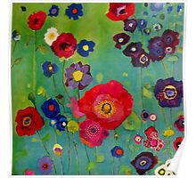 Bloom field - Poppy Poster