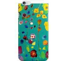Bloom field - Turquoise iPhone Case/Skin