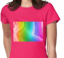 Rainbow colors agate slice mineral Womens Fitted T-Shirt